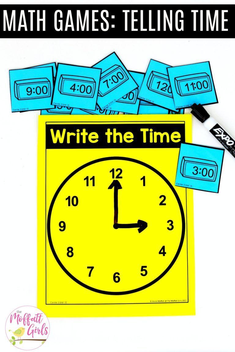 Kindergarten Math Telling Time to the Hour Kindergarten