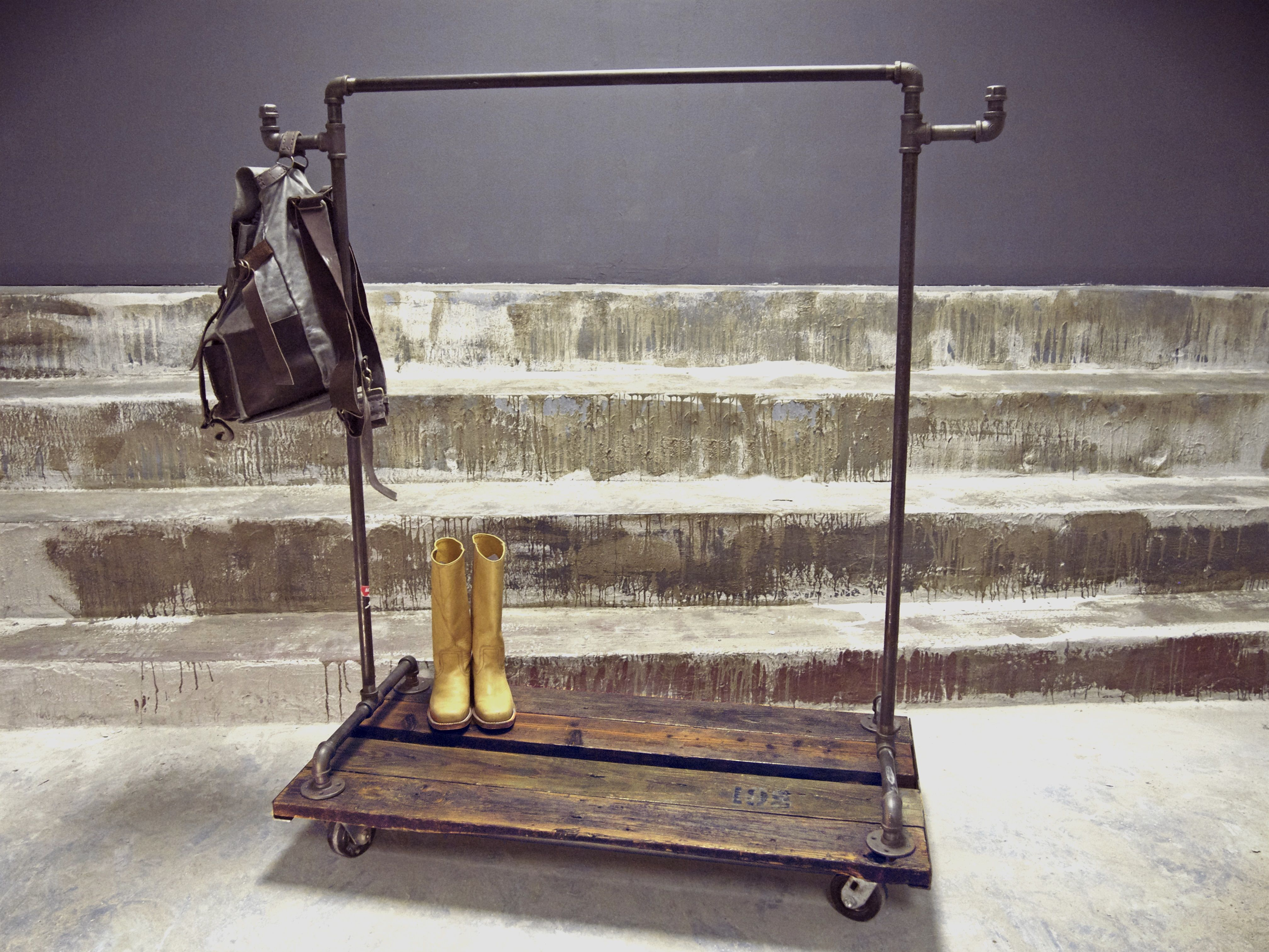 SMALL ROLLING ROXANNE INDUSTRIAL GARMENT RACK #http://www.pinterest.com  Diy  Clothes ...