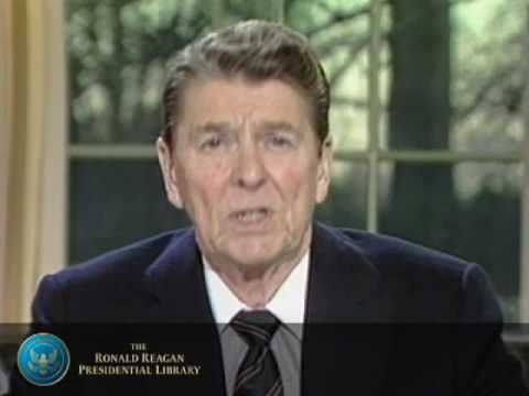 Also an amazing speech: Challenger: President Reagan's