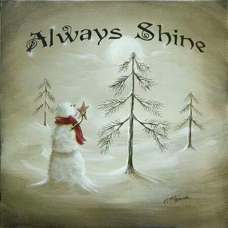 Always Shine   Snowman   Christmas Tree/star