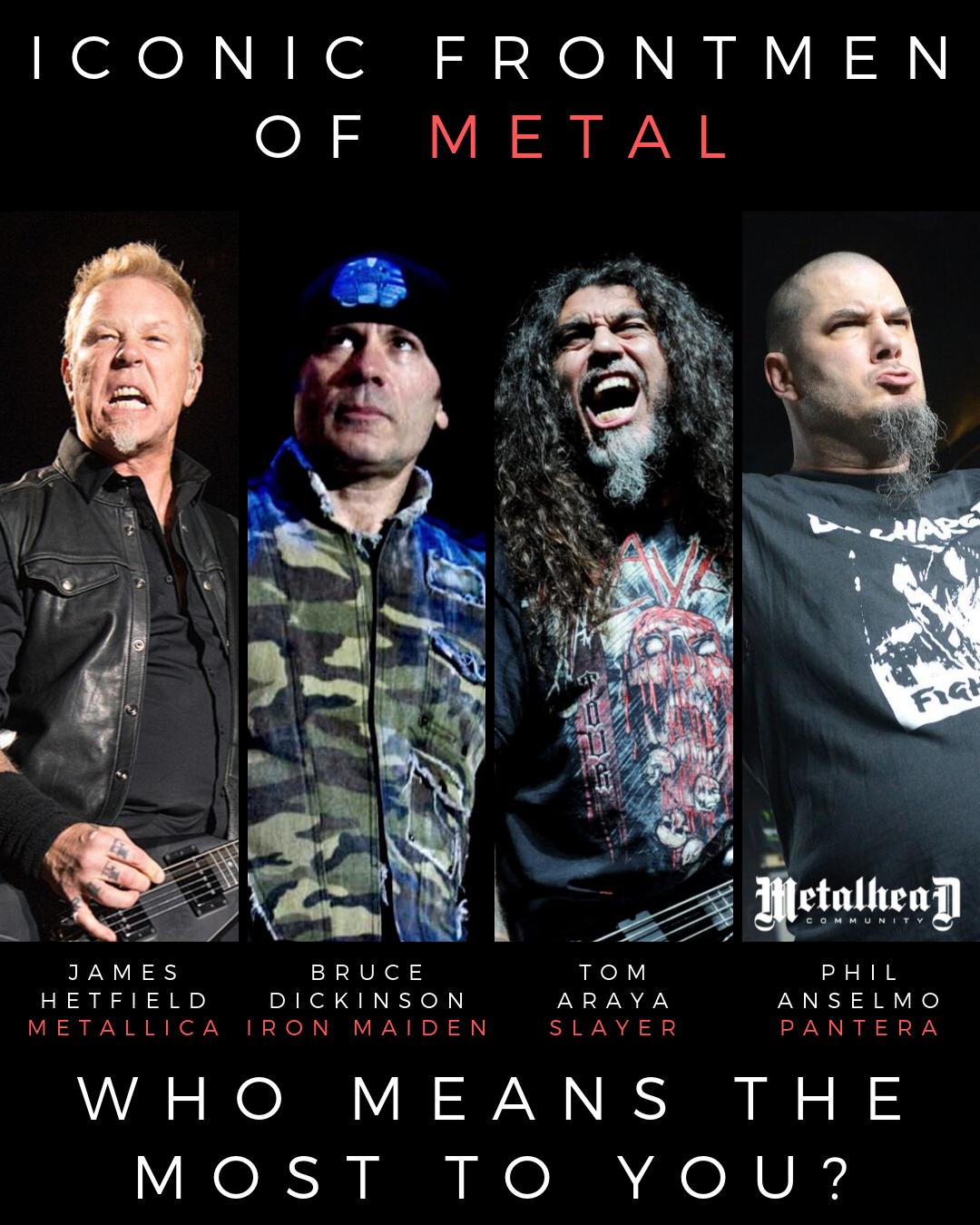 Iconic Frontmen Of Metal Music Metal Songs Heavy Metal Music Heavy Metal Bands