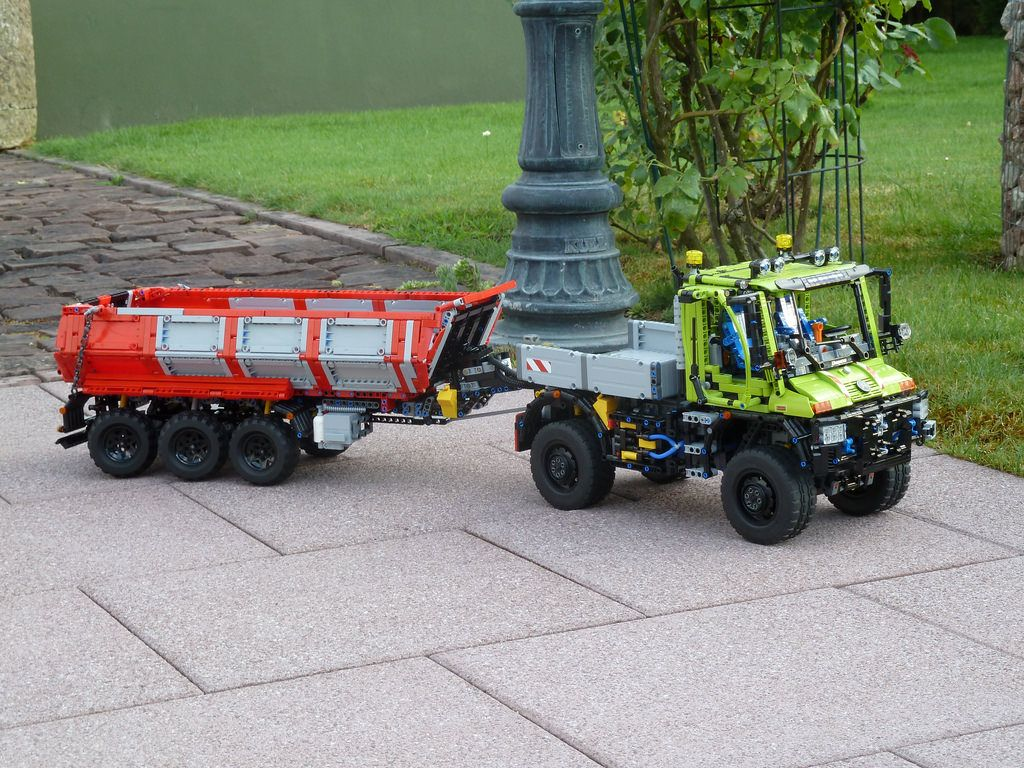Dump Trailer Modified For My Unimogs Lego Technic Dump Trailers Lego Trains