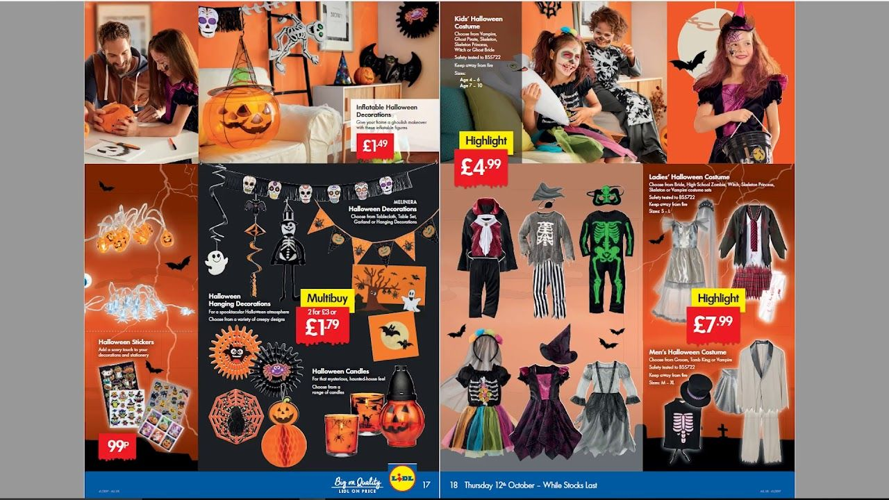 Costumi Halloween 2019 Lidl.Lidl Weekly Special Buys Halloween Edition 12th October To 18th