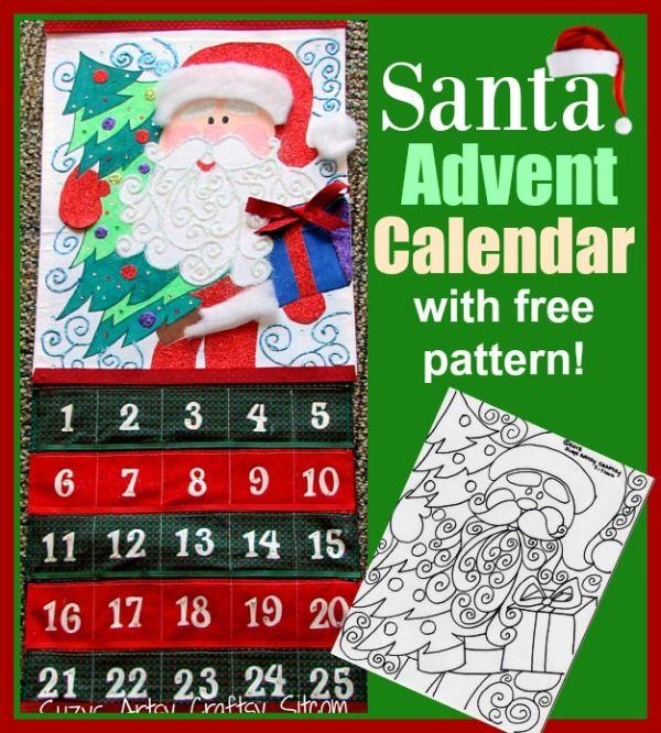 Holiday Santa Advent Calendar Tutorial (free pattern!) Advent