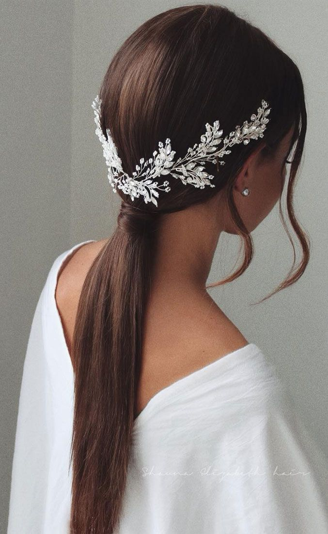 Gorgeous Wedding Hairstyles For The Elegant Bride is part of Hair piece, Wedding hairstyles, Gorgeous hair, Bride hairstyles, Hair beauty, Hair pieces - Finding a wedding hairstyle is not that easy as there are so many factors to consider  Some of these factors include shape of the face, wedding gown, theme of wedding, wedding jewelry, and the bride's personal style