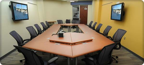 trapezoid modular conference table