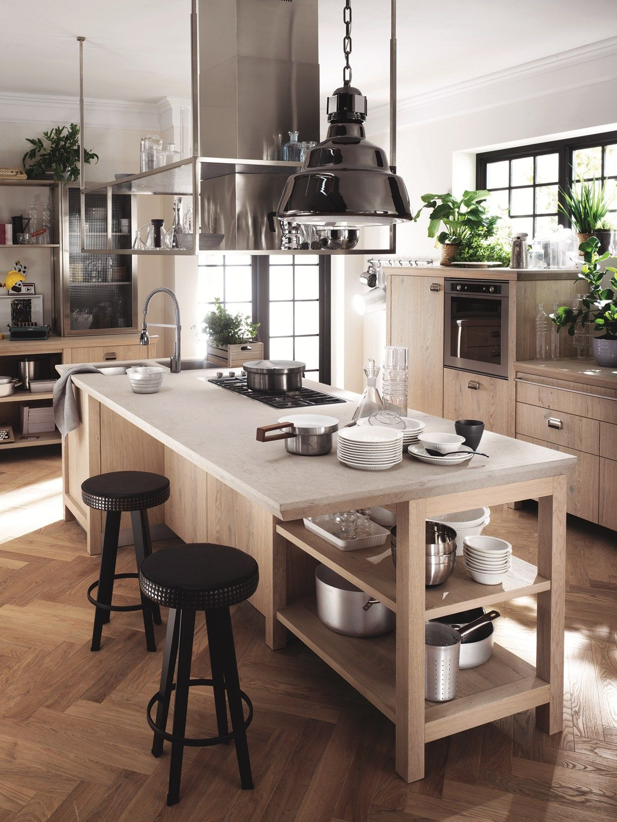 Kitchen islands designs  Diesel with Scavolini the other side of the kitchen Anima vintage
