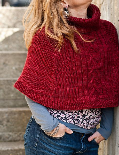 Cranberry Capelet pattern by Thea Colman | Capilla, Tejido y Collage ...