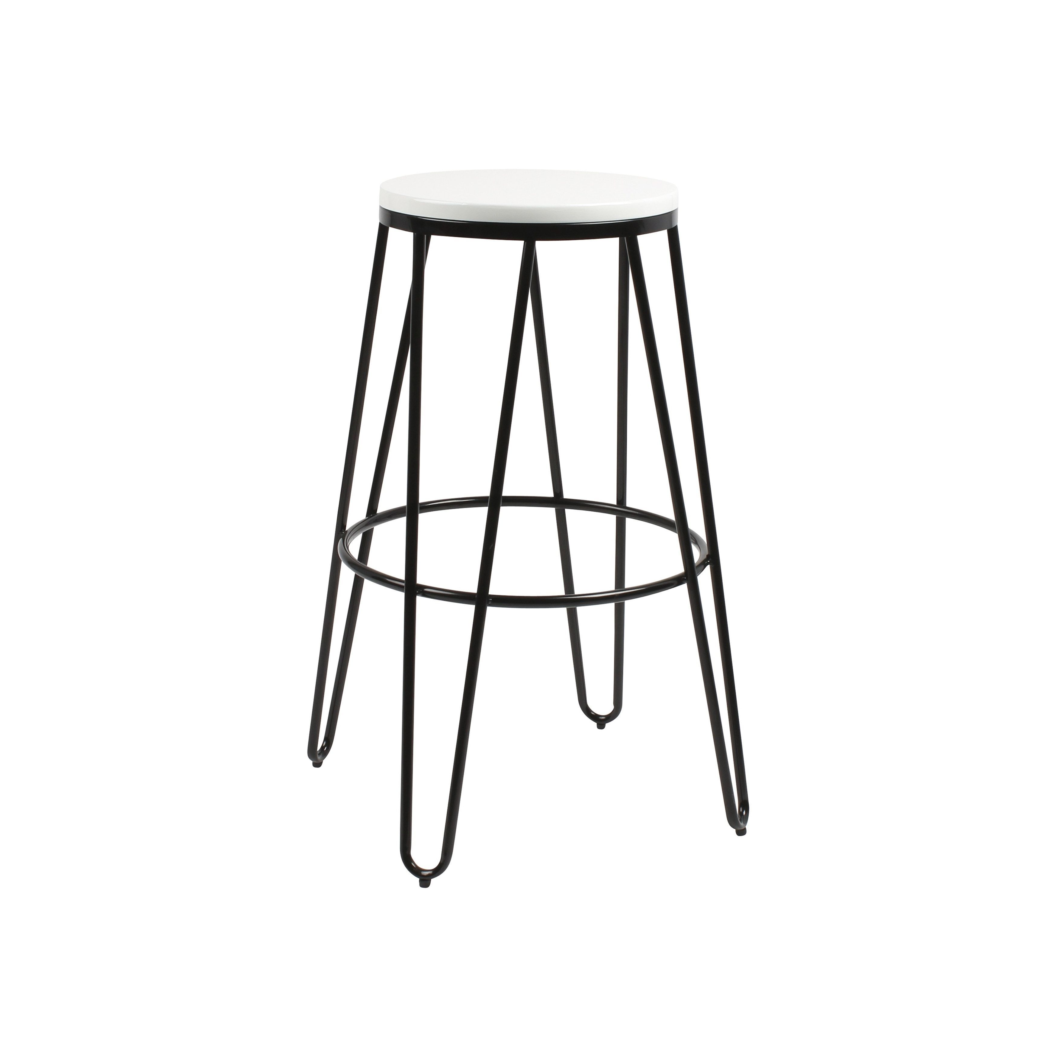 Kate and Laurel Tully Backless Two-tone Wood and Metal Bar Stools ...