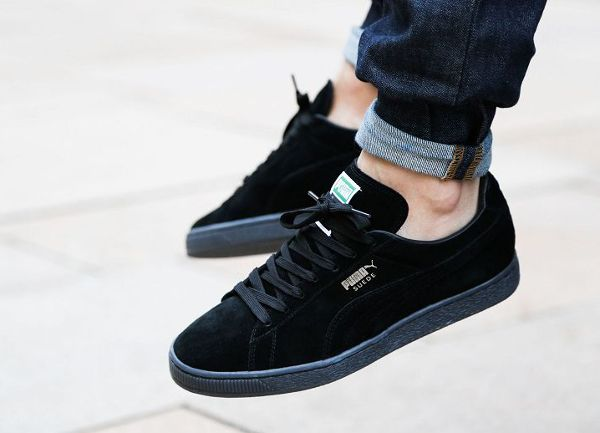 Puma Suede Classic+ Iced Black Gold Foil | Urban Style