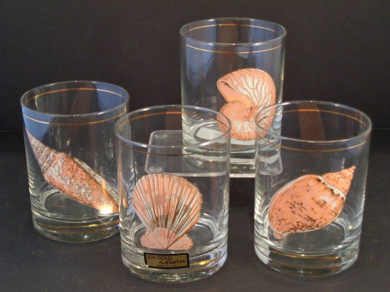 High Quality Barware Collection   CULVER   SEASHELL ROCKS GLASSES