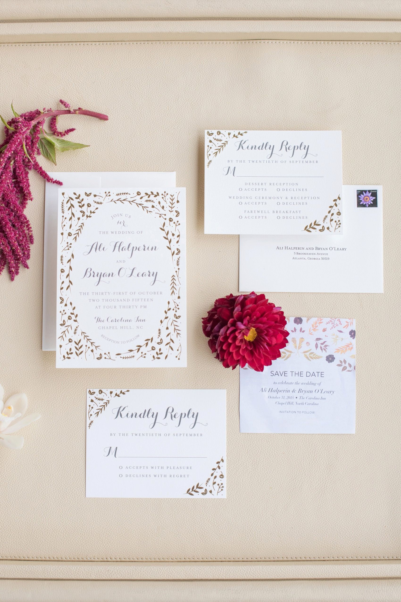Add a sparkling touch to your garden themed wedding with a foil ...