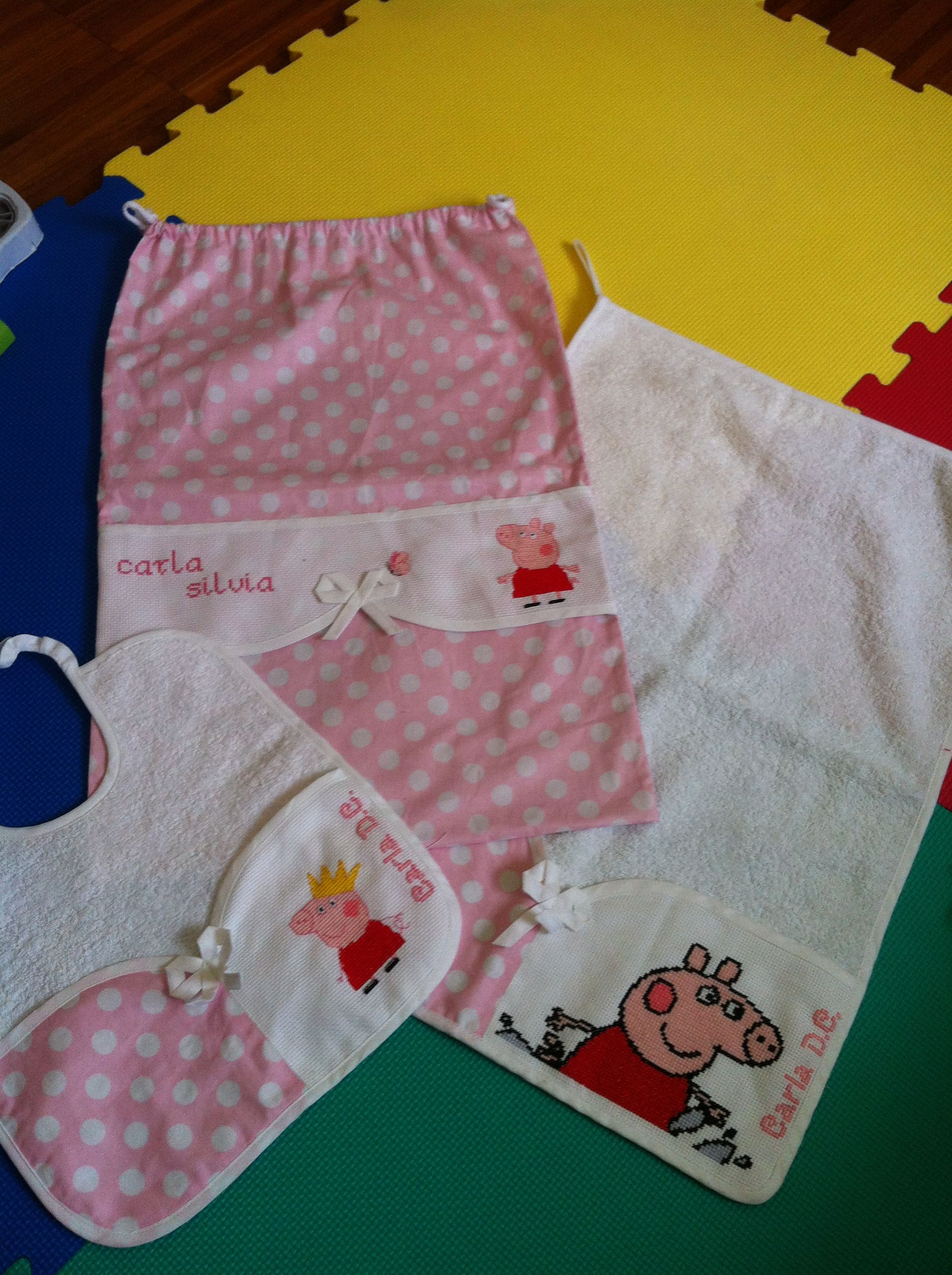 Punto Croce Per Asilo.Peppa Pig Set Asilo Per Carla Punto Croce Stuff I Want To Make