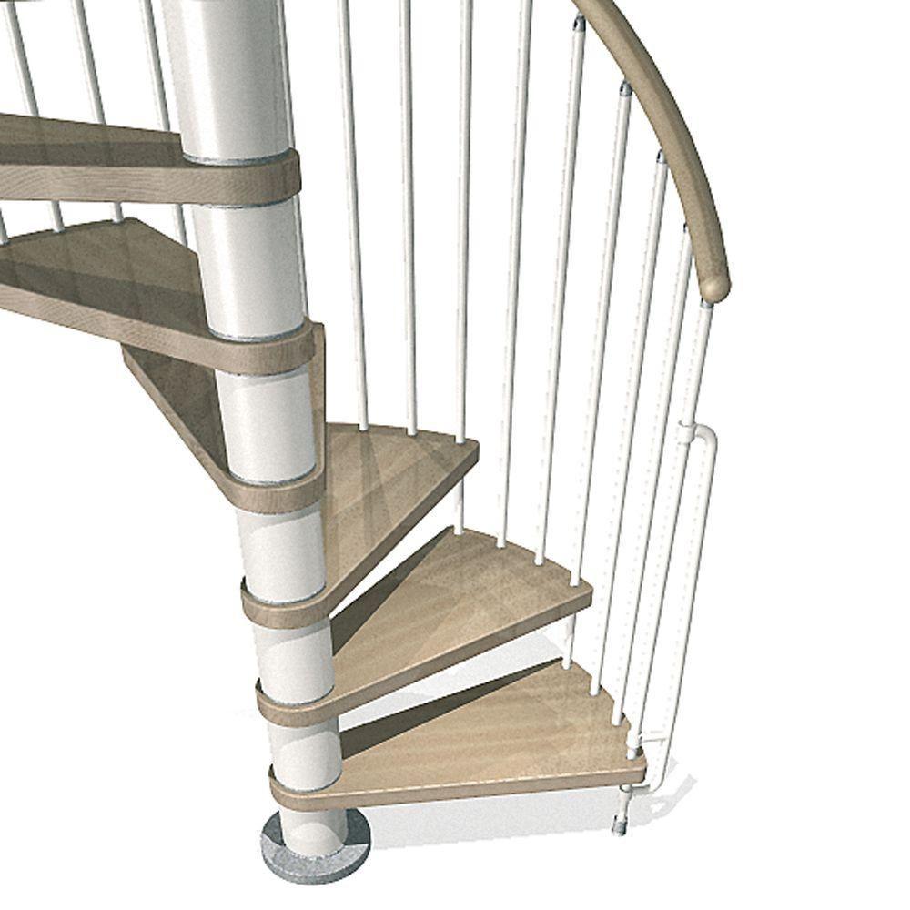 Arke Phoenix 55 in. White Spiral Staircase KitK07096 in