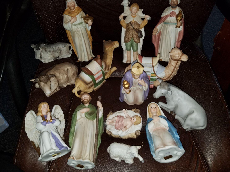 Vintage Homco Home Interiors Nativity Set 15 Pc By Vintagebarnyard On Etsy