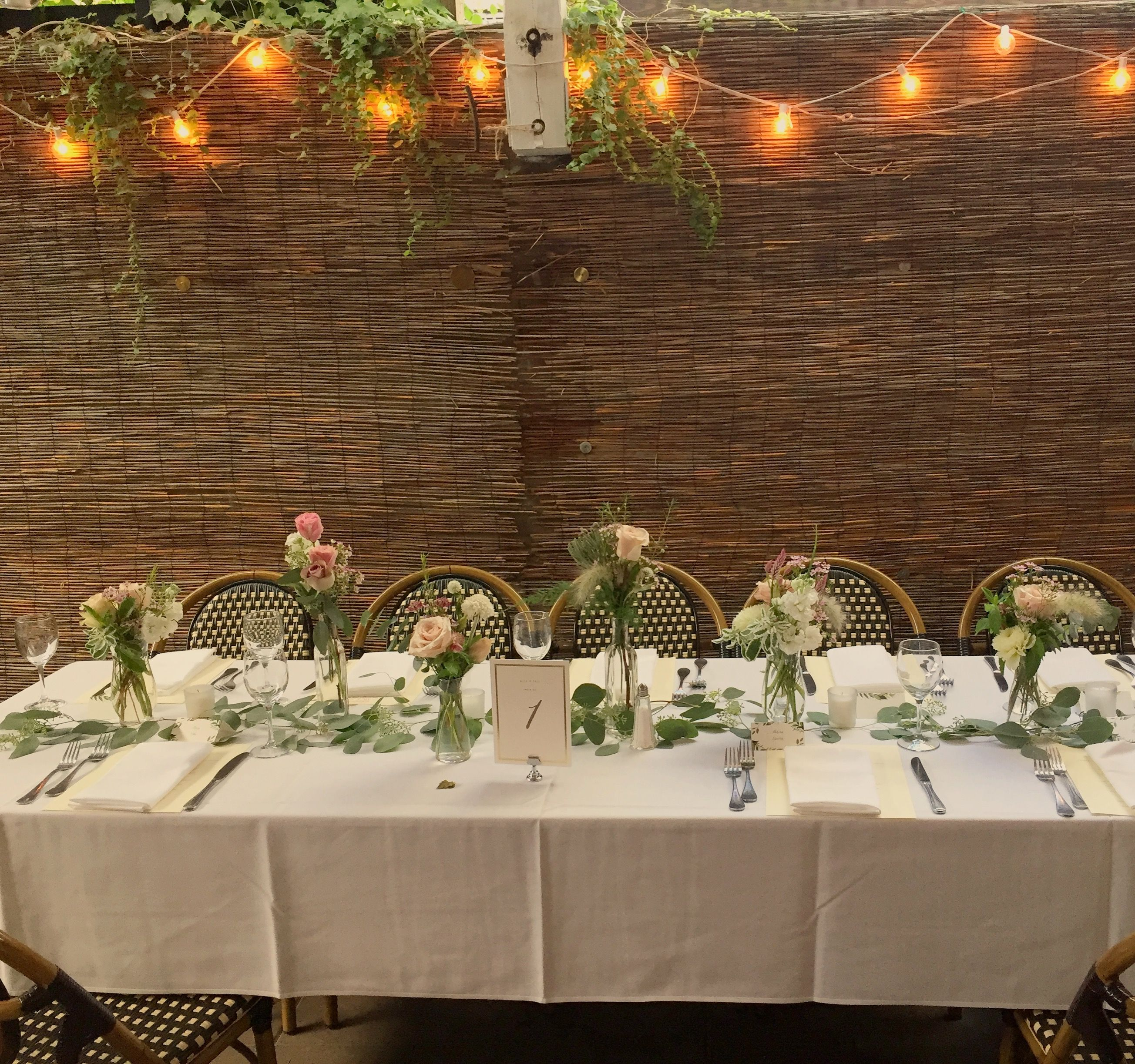 Bacchus Bistro Brooklyn wedding. Flowers by rosewoodproductions ...