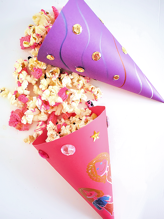 Girls Night Popcorn Cones Crafts Diy At Our Kid Things