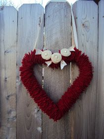 Valentine Wreath... fantastic idea for an up cycle project!