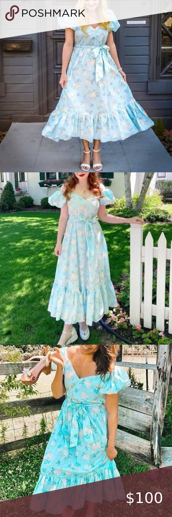 Loveshackfancy X Target Estelle Floral Dress Floral Blue Dress Floral Dress Dresses [ 1740 x 580 Pixel ]