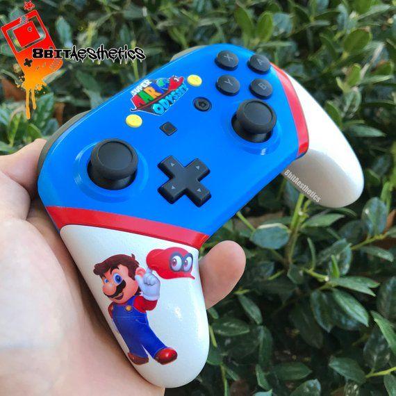 ad2e6829553bac Custom Super Mario Odyssey Themed Nintendo Switch Pro Controller ...