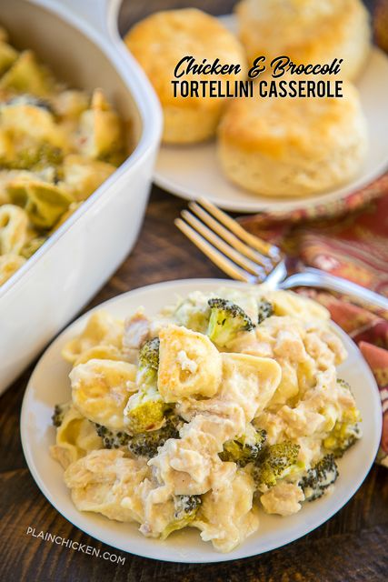 Chicken and Broccoli Tortellini Casserole