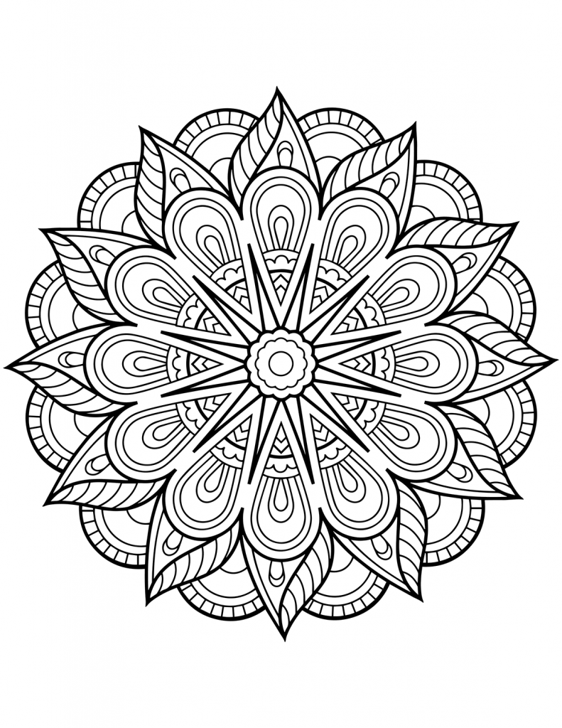 Flower Mandala Coloring Pages Best Coloring Pages For Kids Flower Coloring Pages Mandala Coloring Books Mandala Coloring Pages