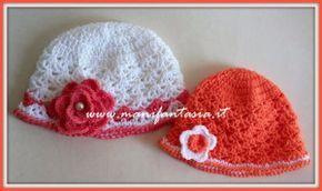 tutorial come fare un cappellino uncinetto per bimba  bc7342cc17e