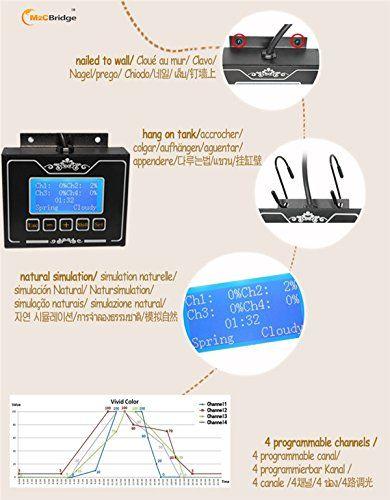 m2cbridge 2x programmable led aquarium light for saltwater coral