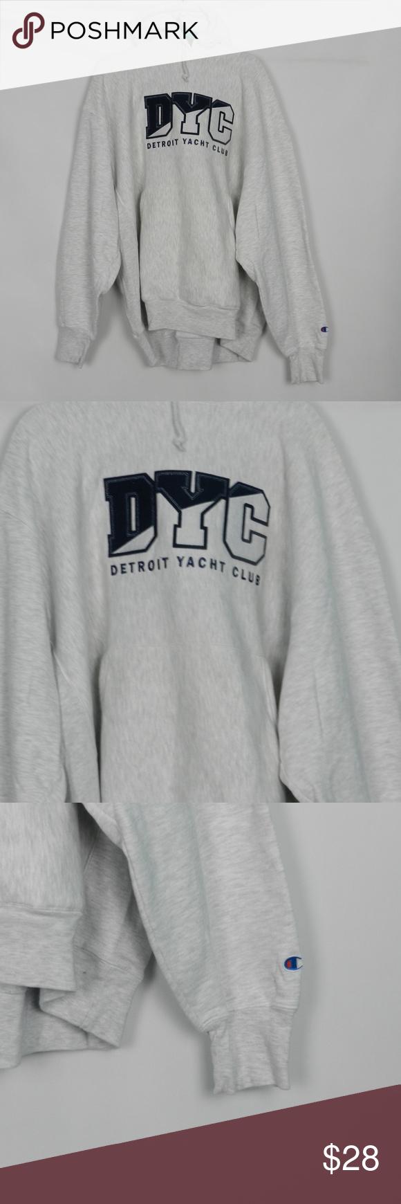Detroit Yacht Club Hooded Sweatshirt Xxl Hooded Sweatshirts Sweatshirts Grey Hooded Sweatshirt [ 1740 x 580 Pixel ]