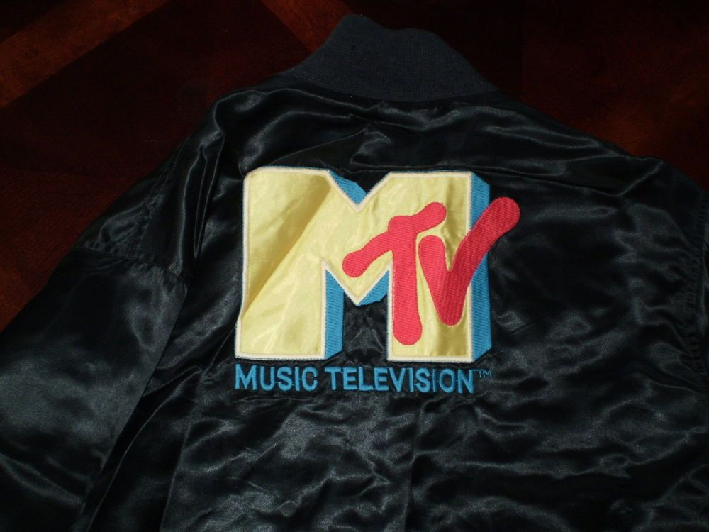 vtg. 1981 SATIN JACKET from MTV MUSIC TELEVISION an original from first year