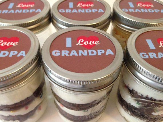 Cupcakes In A Jar-Mason Jars-I Love Grandpa-Happy Father's Day-Gifts for Grandpa-Love