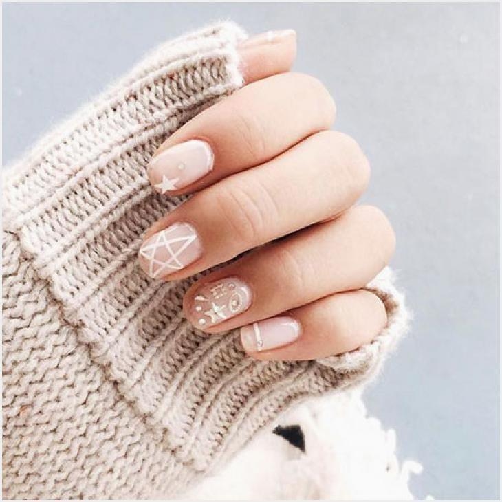 554 Christmas Nails Korean In 2020 Nails Nail Art Designs August Nails