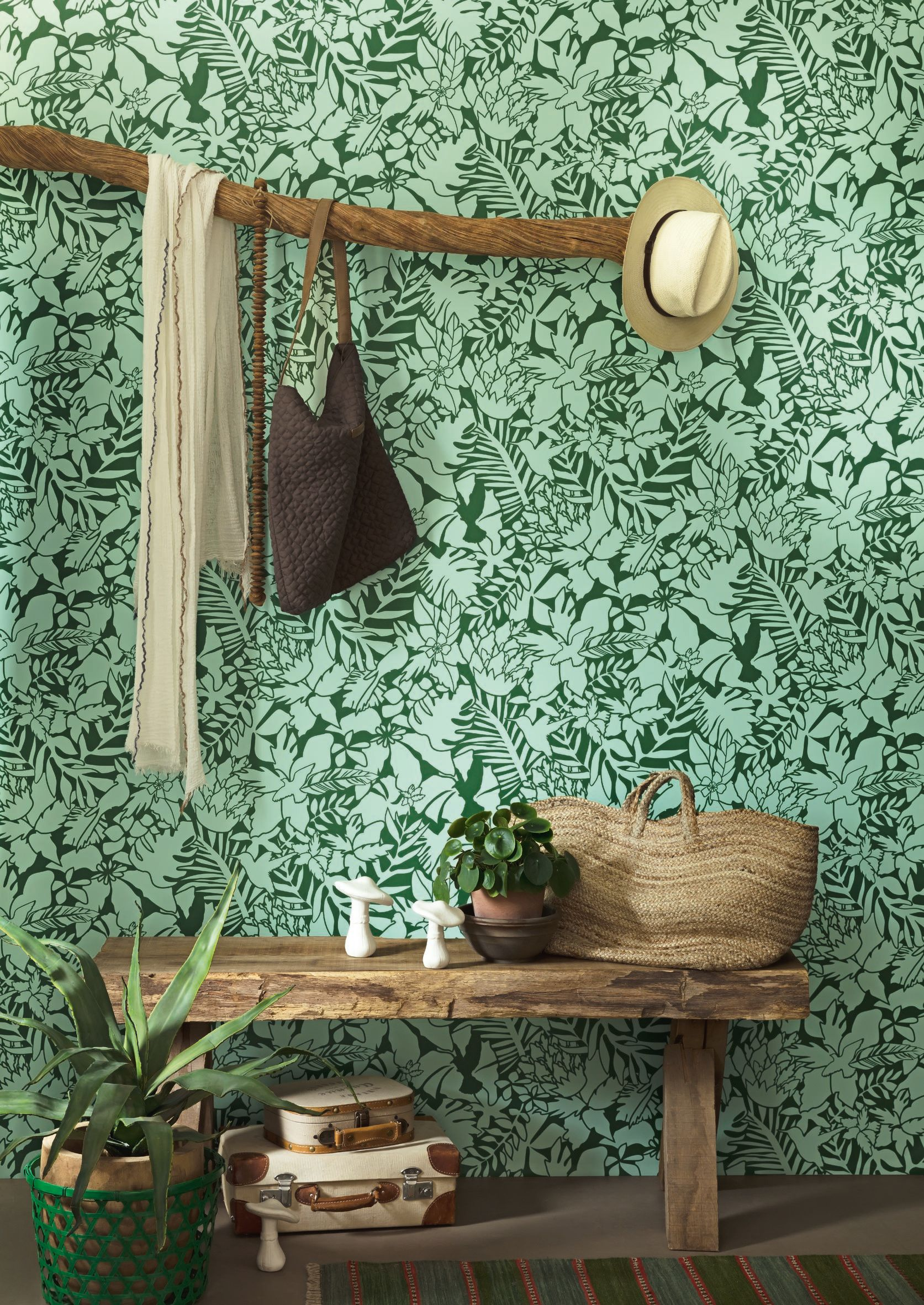 Aloha Tropical In 2019 Colonial Tropical Wallpaper Tree
