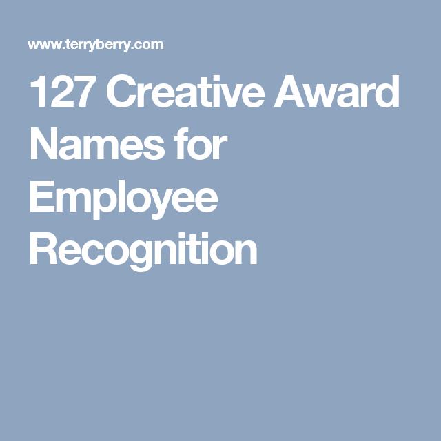 127 Creative Award Names for Employee Recognition | Christmas ...