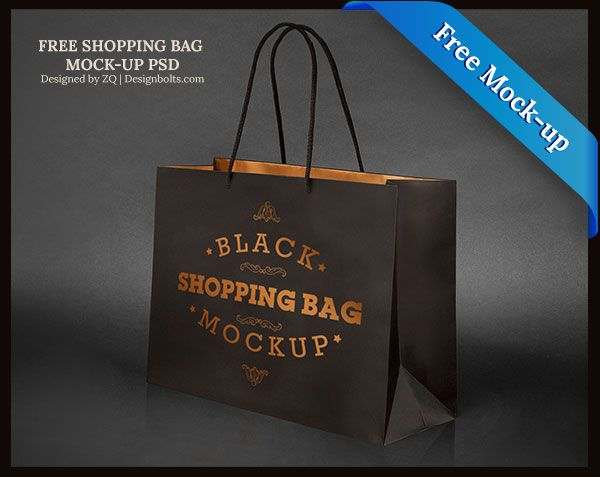Download Free Black Shopping Bag Mock Up Psd File Bag Mockup Free Mockup Bags
