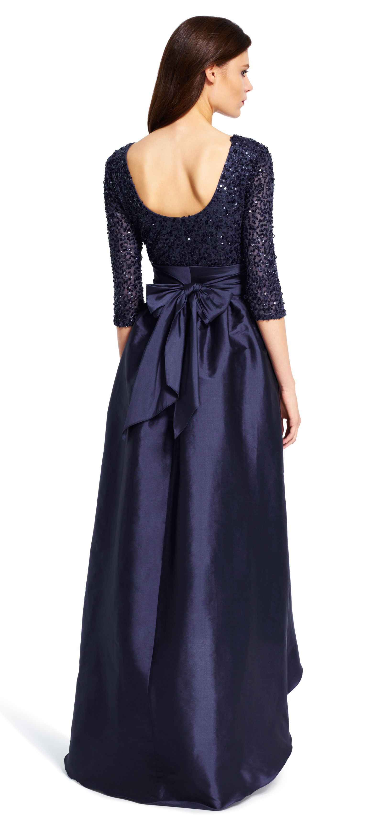 Taffeta Ball Gown with Beaded Bodice | Adrianna papell, Ball gowns ...