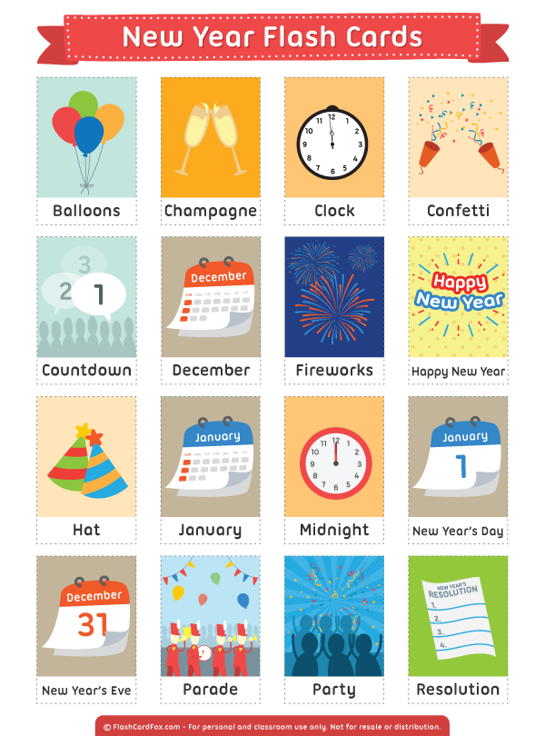 free printable new year flash cards download them in pdf format at http