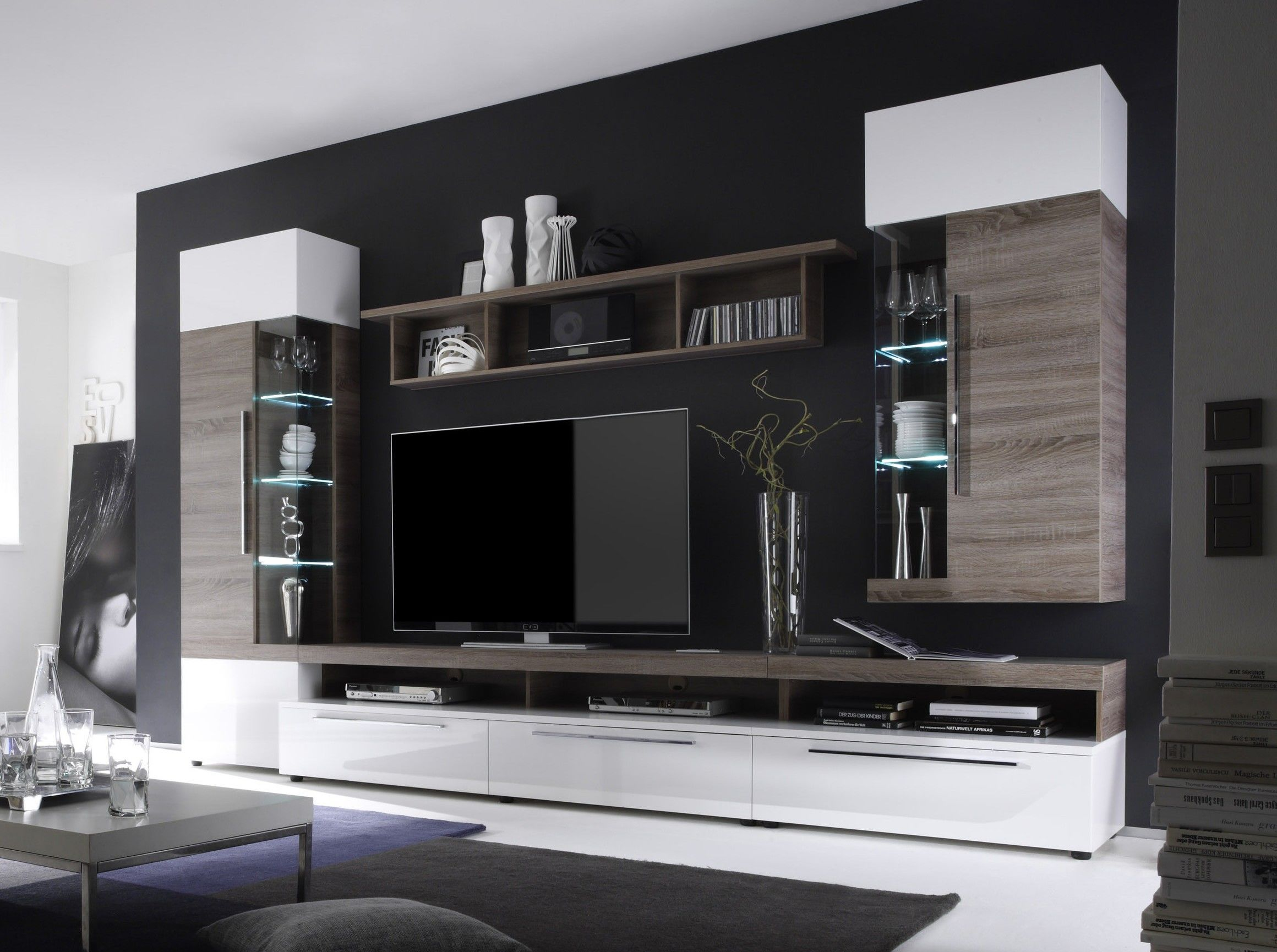 Tolle Wohnwand Tv Unit Furniture Modern Tv Wall Units