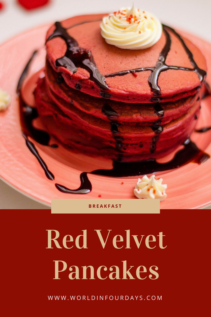 A valentines breakfast youll love red velvet pancake recipe rise and shine with this red velvet pancake recipe perfect for valentines day or even birthday celebrations made from red velvet box cake mix ccuart Image collections