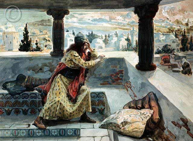 Bible Art King David And Bathsheba