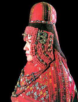 Central Asia ~ Uzbekistan | Ritual jewelry of the Karakalpak women in the 19th - early 20th cc. | ©unknown, via San'at