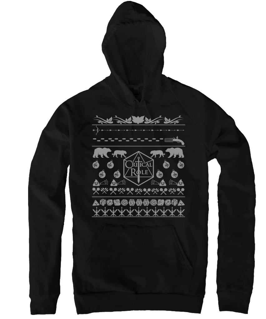 LIMITED TIME ONLY - Critical Role Critmas Hoodie | The Story Board ...