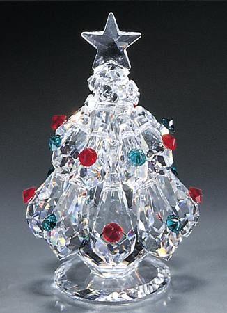 a9d2c18230 Small Christmas Tree crystal figurine from www.CrystalWorld.com ...