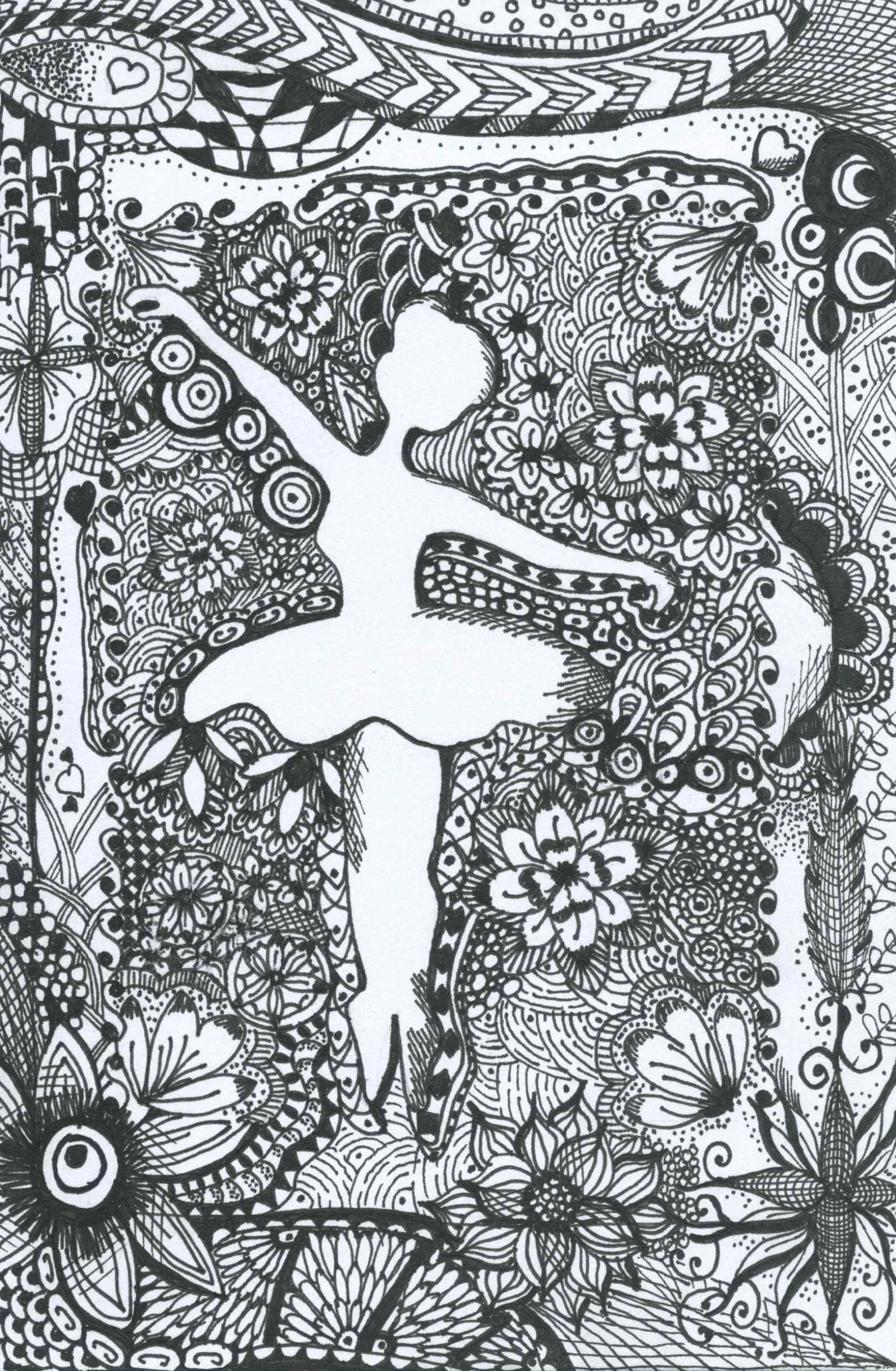 tutu ballet coloring page zentangle dance coloring book
