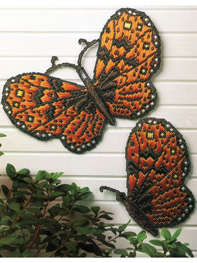 Plastic Canvas Patterns - Butterfly Wallhangings