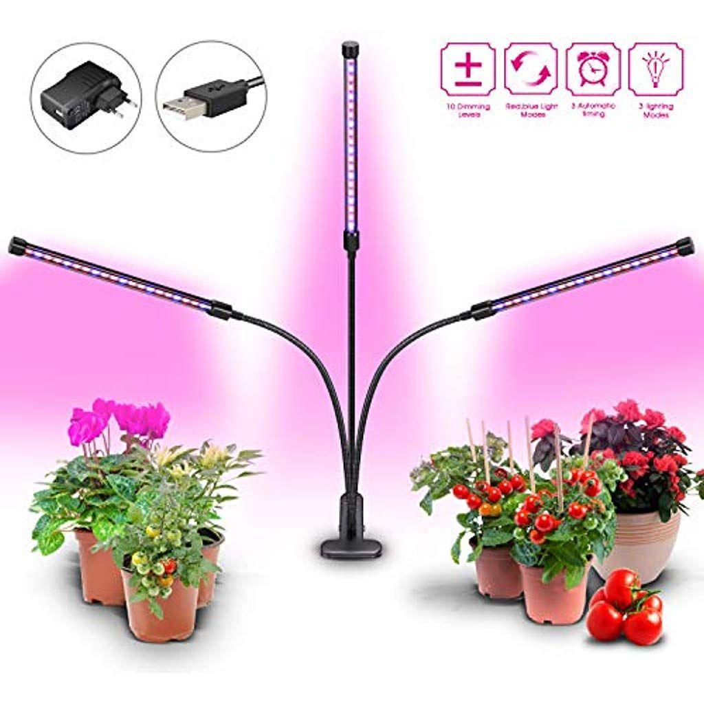 Giagia Lampe De Croissance 28w Led Lampe De Plante Horticole Avec
