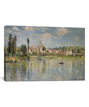 This Monet Vetheuil in Summer 1880 Wrapped Canvas is perfect! #zulilyfinds