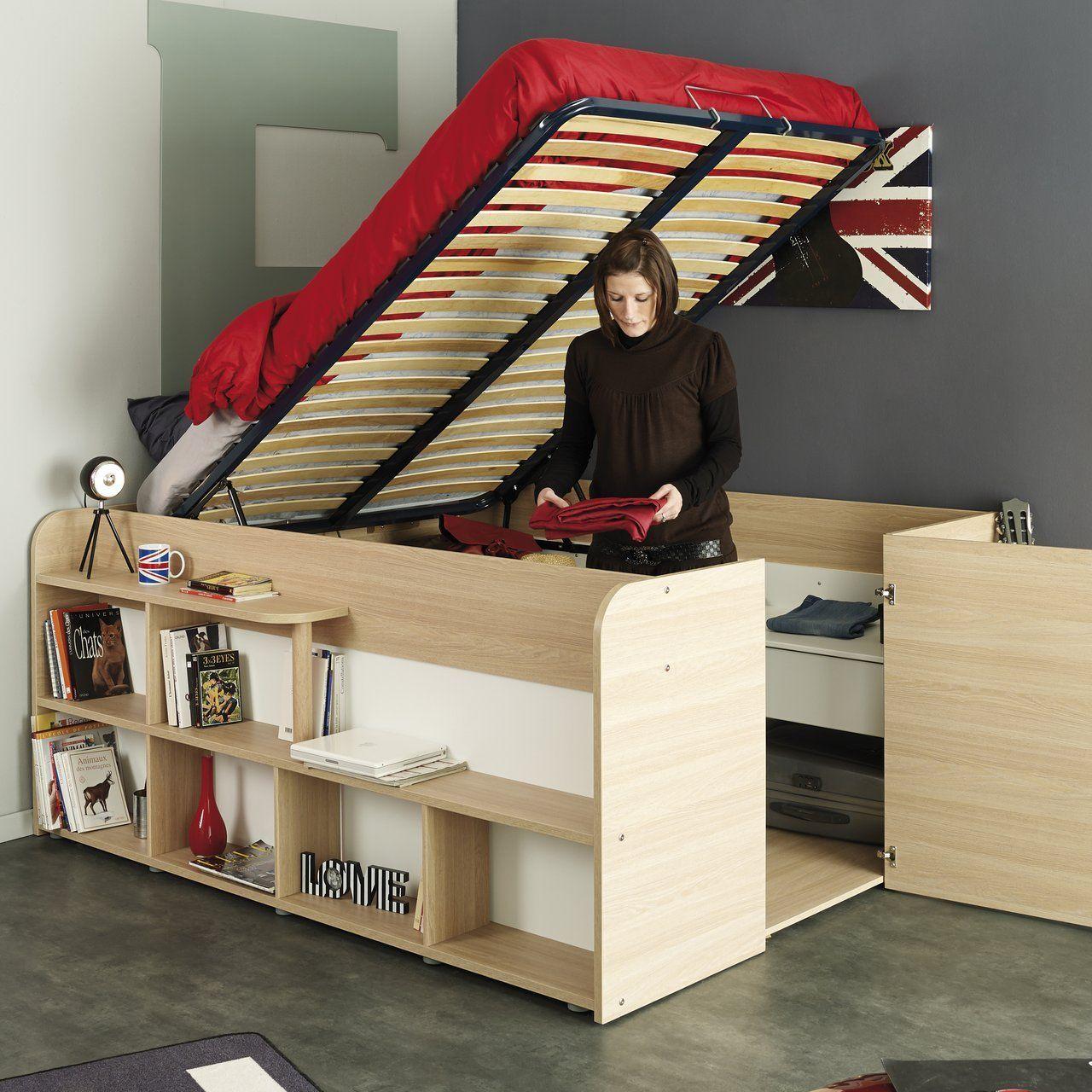 Parisot Mallow Silex Oak Platform Bed #bed, #furniture, #sturdy ...