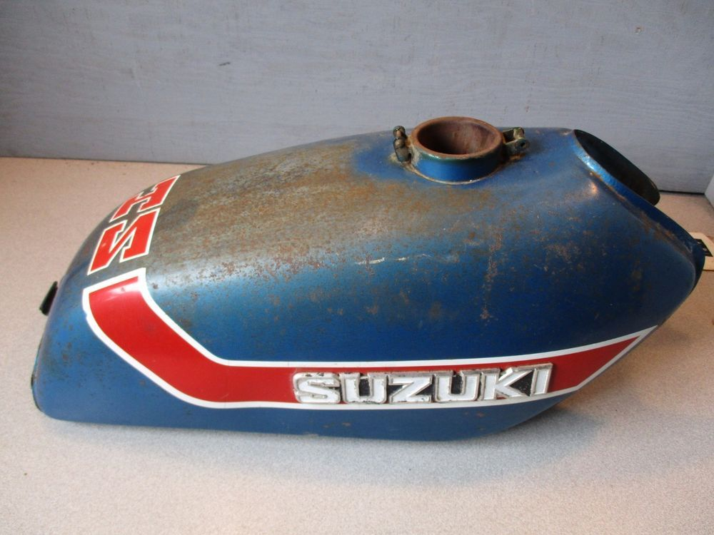 SUZUKI GAS FUEL TANK TS185 TS 185 K SIERRA BLUE OEM VINTAGE