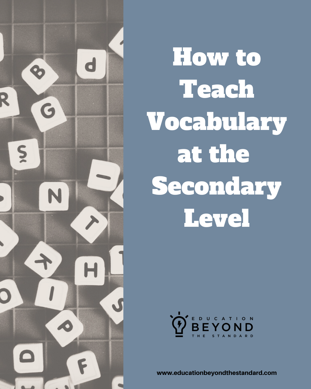 Teaching Vocabulary To Middle And High School Students